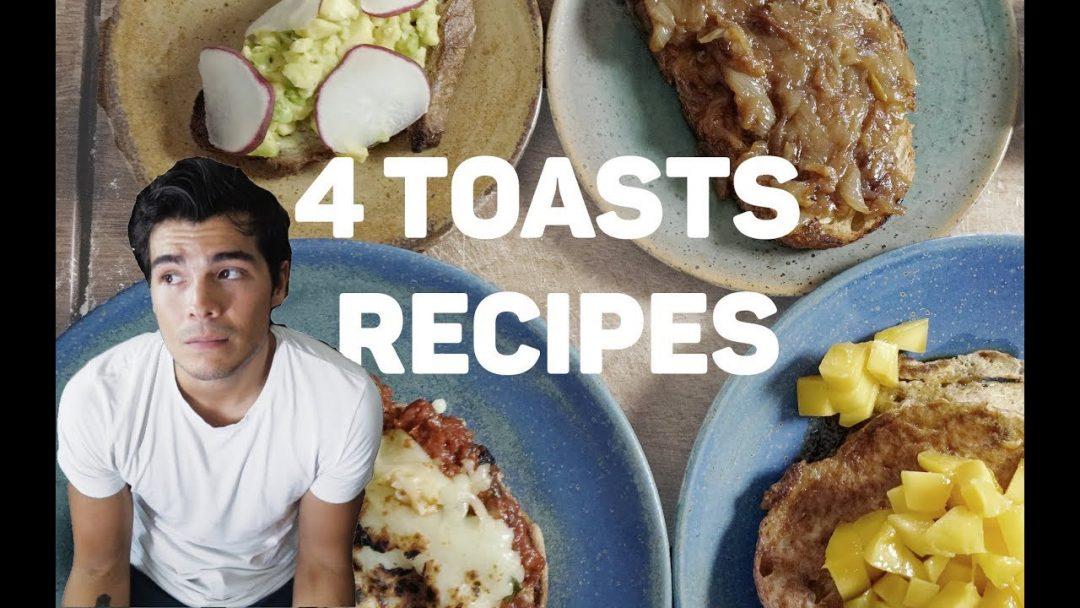 4 EASY TASTY TOAST RECIPES – AVOCADO, ONION JAM, FRENCH AND PIZZA