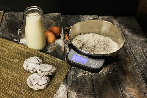 Digital Kitchen Scale With Stainless Steel Measuring Bowl