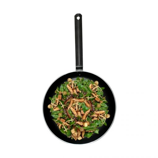 """9"""" Aluminum Induction Deep Stirfry Pan with Non-Stick Coating"""